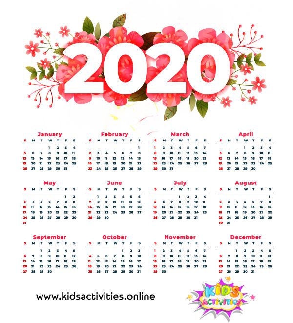 Download free  printable calendar  pdf