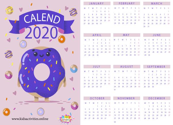 2020 new year stylish calendar pdf - printable new year calendar 2020 pdf