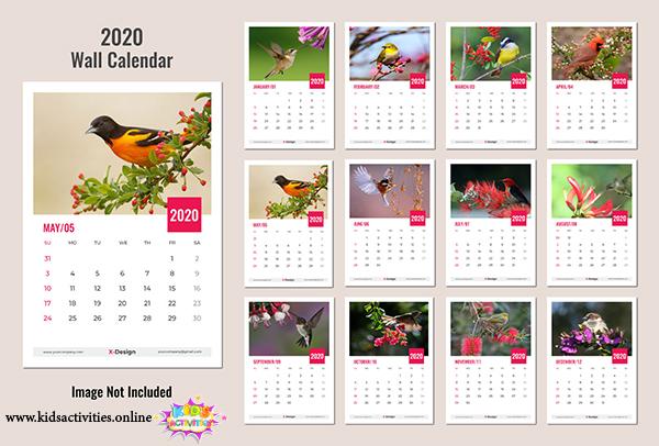 free 2020 calendar printable new year PDF - printable new year calendar 2020 pdf