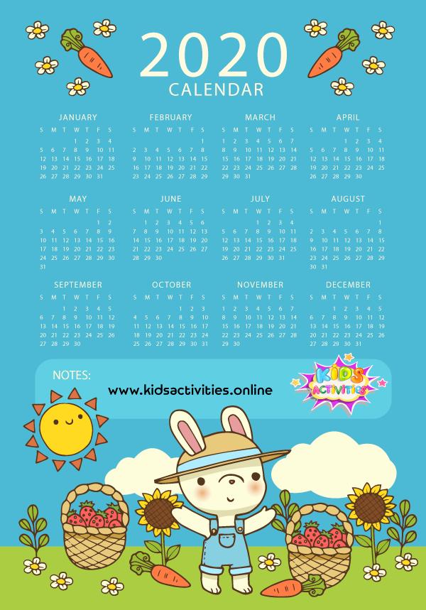 printable new year calendar 2020 pdf