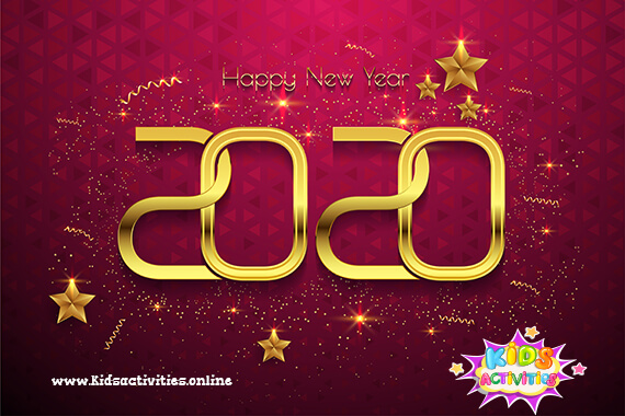 New Year Greeting Card in 2020 - New Year 2020 Images And Wallpapers