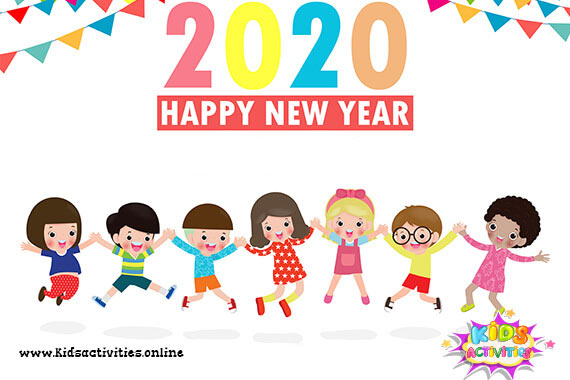 Cartoon Cute New Year Doodle 2020 Kids Activities