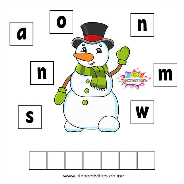 printable word games for kids
