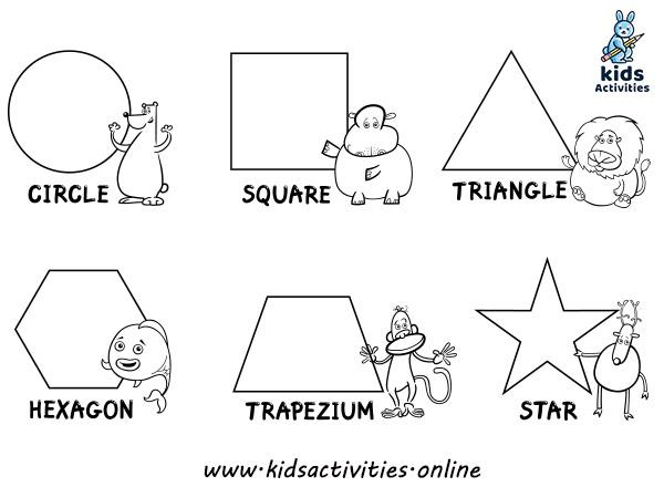 Preschool Shapes Worksheets - Free printables ⋆ Kids ...