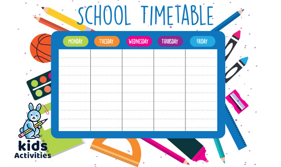 Best 6+ School Timetable Template | Free Download