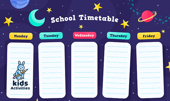 2020 School Timetable Template | Free Download