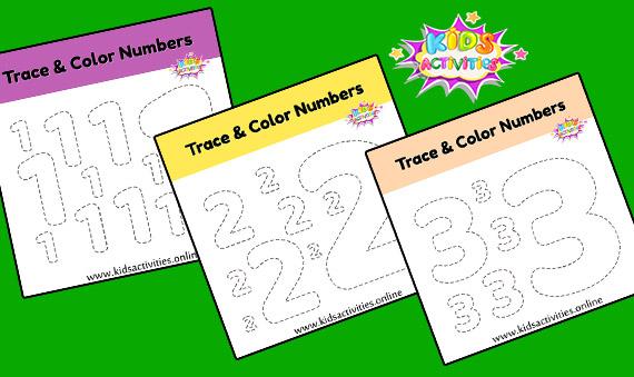 Printable Tracing Numbers Worksheets