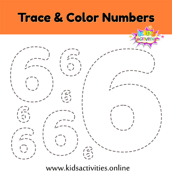 trace and write numbers 0-9