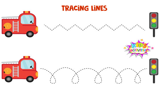 tracing lines worksheets for preschool