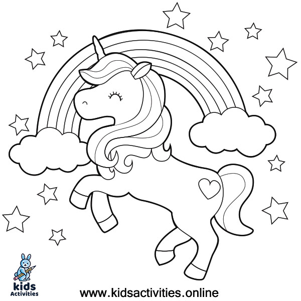 Baby Unicorn Coloring Pages For Kids cute ⋆ Kids Activities