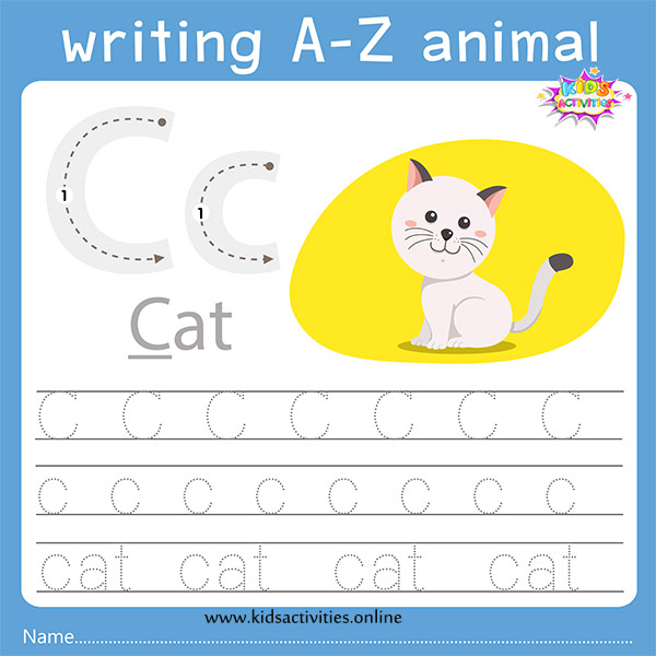 tracing letters c