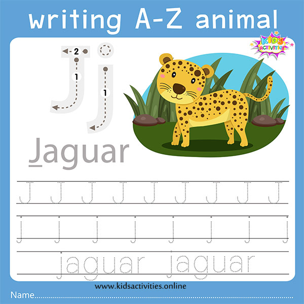 Tracing letters j