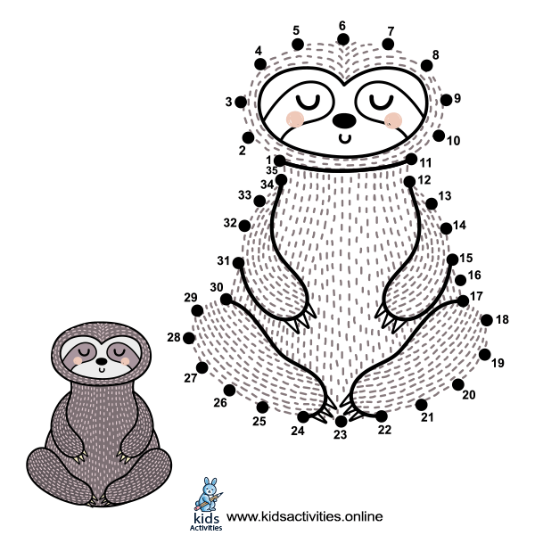 dot to dot printables animal