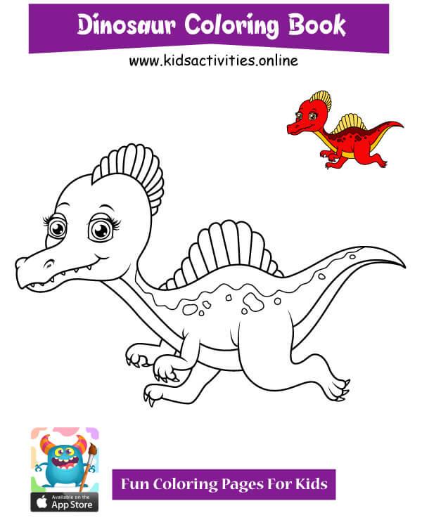 Dinosaur doodle drawing