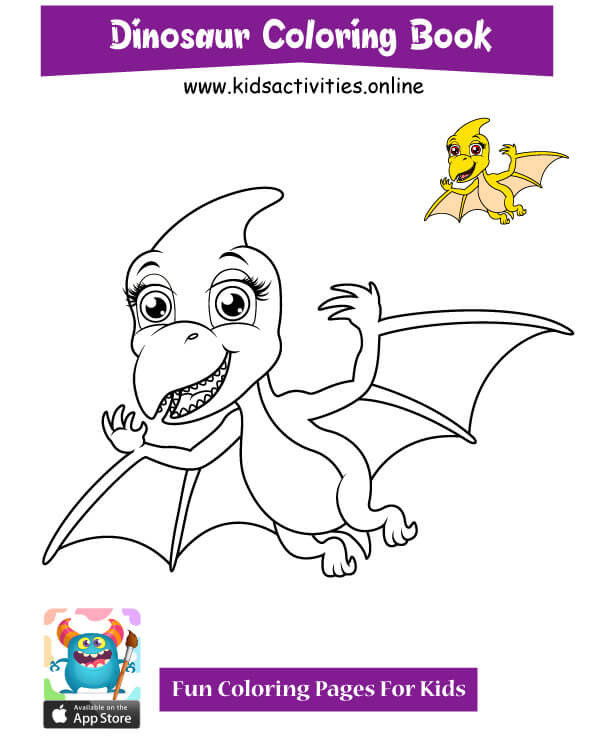 Dinosaur to coloring pages
