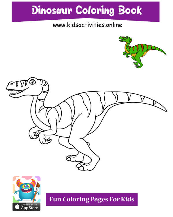 Free !! printable dinosaur coloring pages pdf