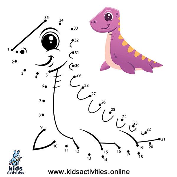 dinosaur drawing game dot to dot