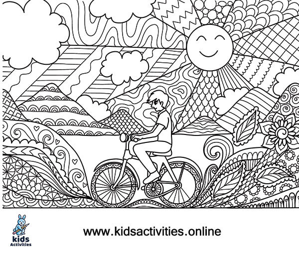 Free Coloring page of summer