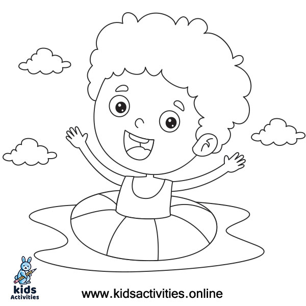Hello summer coloring pages
