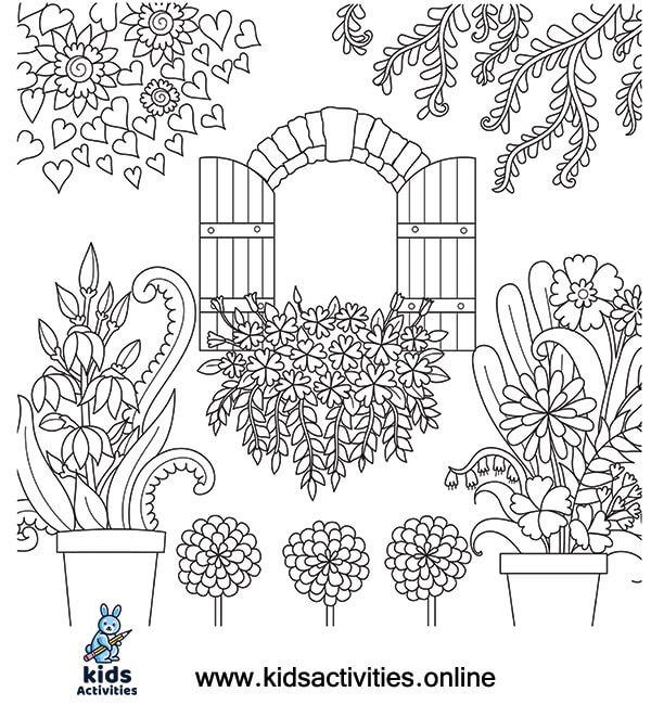 Summer coloring sheets printable