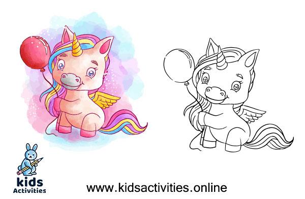 Unicorn picture to color