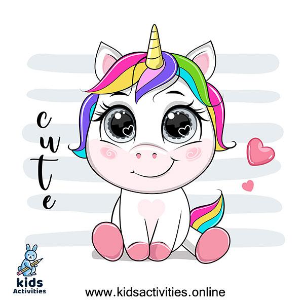 Cute Unicorn girl drawing