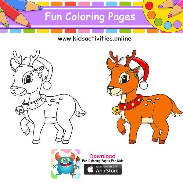 Cute coloring pages deer
