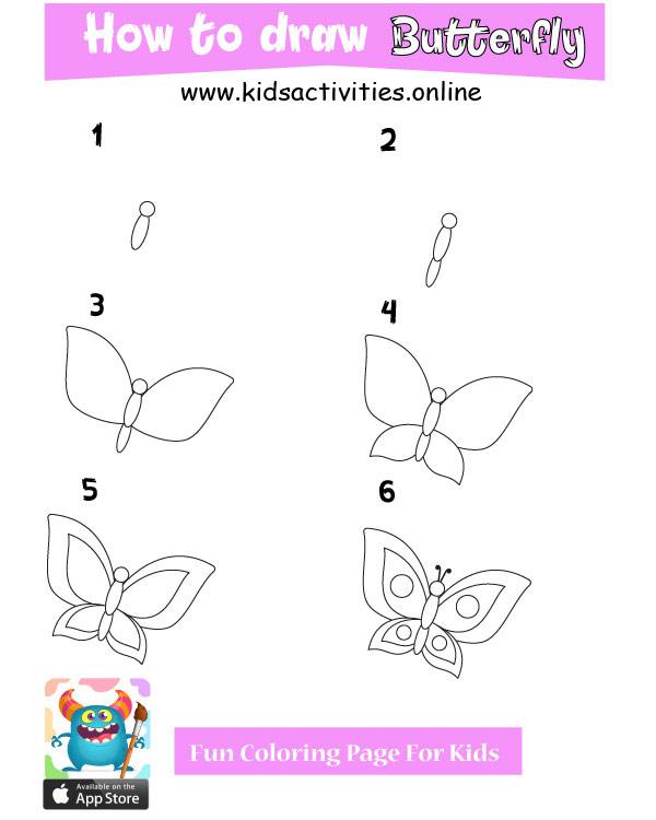 Cute butterfly drawing