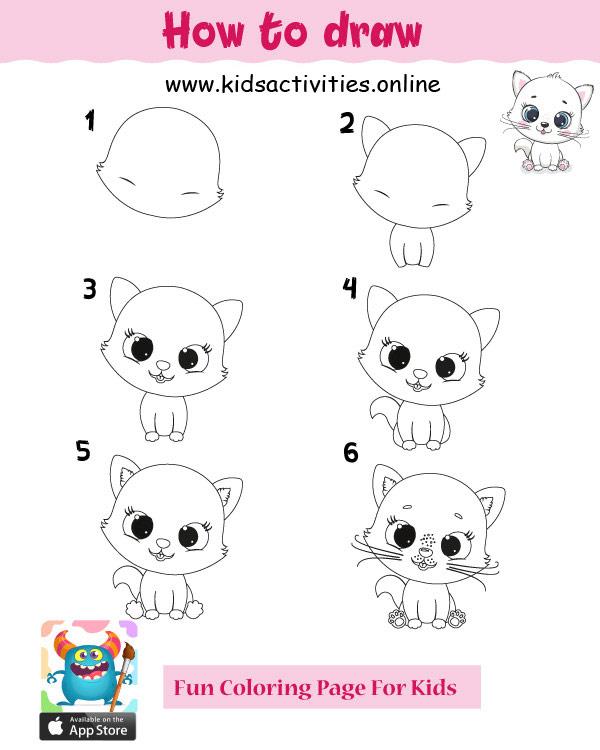 Cute drawings of animals - cute cat