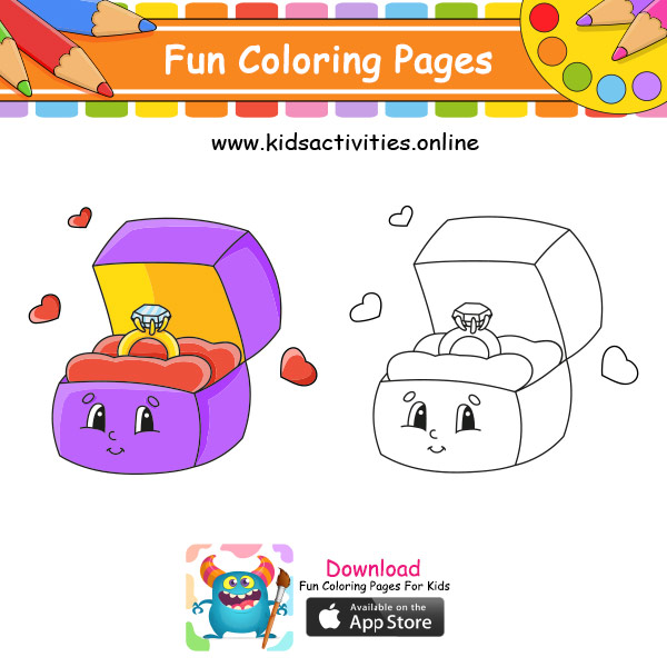 Cute drawings coloring pages
