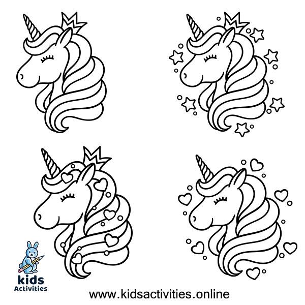 Unicorn head drawing