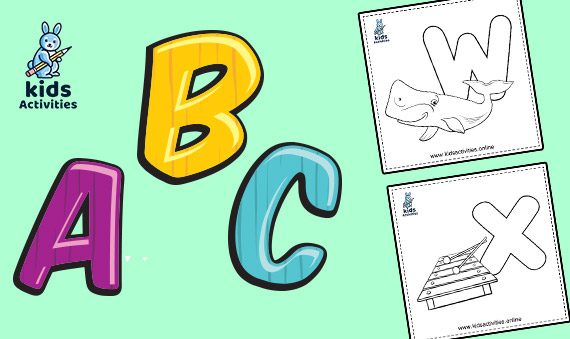 Free Alphabet Coloring Pages - ABC For Coloring ⋆ Kids Activities